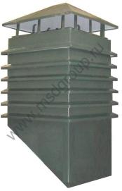 Обрамление дымохода из металла полимер дымоход